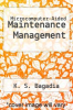 cover of Microcomputer-Aided Maintenance Management