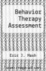 cover of Behavior Therapy Assessment