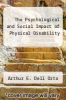 cover of The Psychological and Social Impact of Physical Disability (2nd edition)