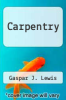 cover of Carpentry
