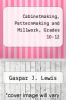 cover of Cabinetmaking, Patternmaking and Millwork, Grades 10-12