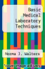 cover of Basic Medical Laboratory Techniques