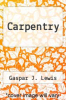cover of Carpentry (2nd edition)