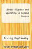 cover of Linear Algebra and Geometry: A Second Course