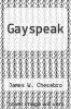 cover of Gayspeak
