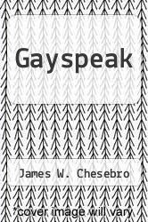 Cover of Gayspeak EDITIONDESC (ISBN 978-0829804560)
