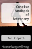 cover of Concise Handbook of Astronomy