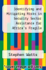 cover of Identifying and Mitigating Risks in Security Sector Assistance for Africa`s Fragile States