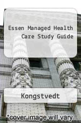 Cover of Essen Managed Health Care Study Guide EDITIONDESC (ISBN 978-0834219847)