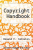 cover of Copyright Handbook (2nd edition)