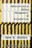 cover of Administrative Office Management: An Introduction (3rd edition)