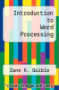 cover of Introduction to Word Processing (2nd edition)