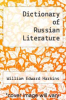 cover of Dictionary of Russian Literature