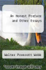 cover of An Honest Preface and Other Essays