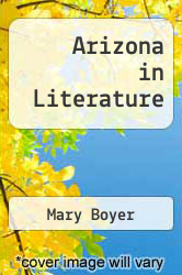 Cover of Arizona in Literature EDITIONDESC (ISBN 978-0838311684)