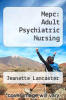 cover of Mepc: Adult Psychiatric Nursing (3rd edition)