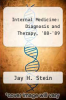 cover of Internal Medicine: Diagnosis and Therapy, `88-`89
