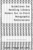 cover of Guidelines for Handling Library Orders for in-Print Monographic Publicesions
