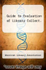 cover of Guide to Evaluation of Library Collect.