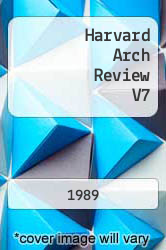 Cover of Harvard Arch Review V7  (ISBN 978-0840053442)