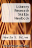 cover of Library Research Skills Handbook