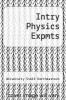 cover of Intry Physics Expmts