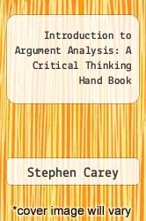Cover of Introduction to Argument Analysis: A Critical Thinking Hand Book 2 (ISBN 978-0840381972)