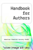 cover of Handbook for Authors