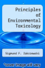 cover of Principles of Environmental Toxicology (1st edition)