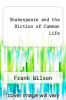 cover of Shakespeare and the Diction of Common Life