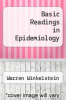 cover of Basic Readings in Epidemiology (3rd edition)