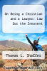 cover of On Being a Christian and a Lawyer: Law for the Innocent