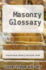 cover of Masonry Glossary