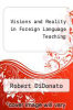 cover of Visions and Reality in Foreign Language Teaching