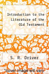Introduction to the Literature of the Old Testament by S. R. Driver - ISBN 9780844619989