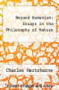 cover of Beyond Humanism: Essays in the Philosophy of Nature
