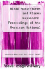 cover of Blood Substitutes and Plasma Expanders: Proceedings of the American National Red Cross Symposium, 9th, Washington, D.C., May, 1977
