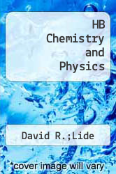 HB Chemistry and Physics by David R.;Lide,Davi Lide David R. - ISBN 9780849304675