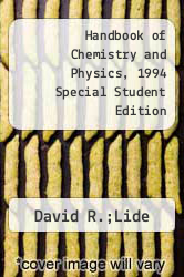 Cover of Handbook of Chemistry and Physics, 1994 Special Student Edition 73 (ISBN 978-0849305665)
