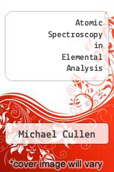 Cover of Atomic Spectroscopy in Elemental Analysis EDITIONDESC (ISBN 978-0849328176)