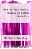 cover of Role of Beta Agonist Therapy in Asthma Mortality (1st edition)
