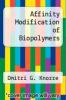 cover of Affinity Modification of Biopolymers