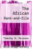 cover of The African Rank-and-file