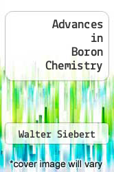 Cover of Advances in Boron Chemistry EDITIONDESC (ISBN 978-0854047222)