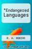 cover of Endangered Languages