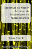 cover of Economics of Modern Britain: An Introduction to Macroeconomics (3rd edition)