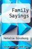 cover of Family Sayings