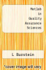 cover of Matlab in Quality Assurance Sciences