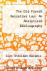 cover of The Old French Narrative Lay: An Analytical Bibliography