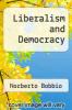 cover of Liberalism and Democracy